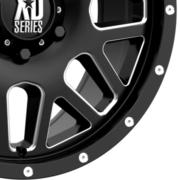 KMC XD820 グリネード サテンブラック/ミルド 18インチ