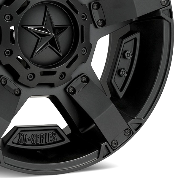 Chrome XD Series Center Star Emblem For All Rockstar Wheels
