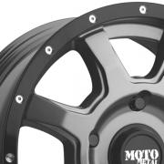 モトメタル MO970 EURO VAN グレー/ブラックリム