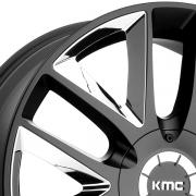 KMC KM710 テークダウン ブラック/クロームインサート