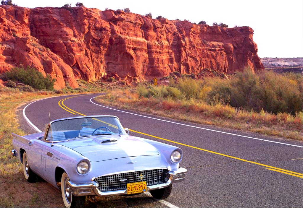 アメ車の似合うアメリカの風景