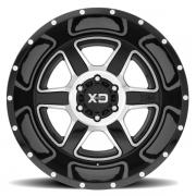 KMC XD832 フュージョン グロスブラック/マシーン